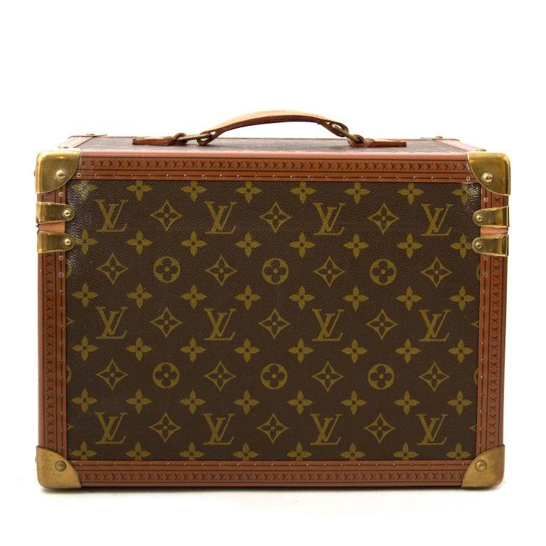Louis Vuitton Monogram Travel Trunk Case For Sale 1