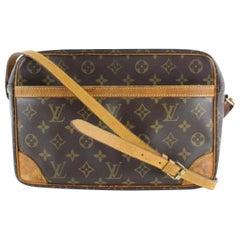 Louis Vuitton Monogram Trocadero 232938 Brown Coated Canvas Cross Body Bag