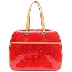 Louis Vuitton Monogram Vernis 6le0108 Red Patent Leather Shoulder Bag