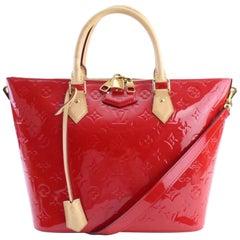 Louis Vuitton Monogram Vernis Mm 18lr0222 Red Patent Leather Shoulder Bag