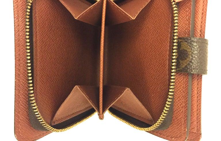 Brown Louis Vuitton monogram wallet  For Sale
