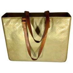 LOUIS VUITTON Monogram  Yellows Vernis Houston Shoulder Bag/ Tote handbag