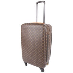 Louis Vuitton Monogram Zephyr 70 Rolling Luggage Bag Suitcase - brown