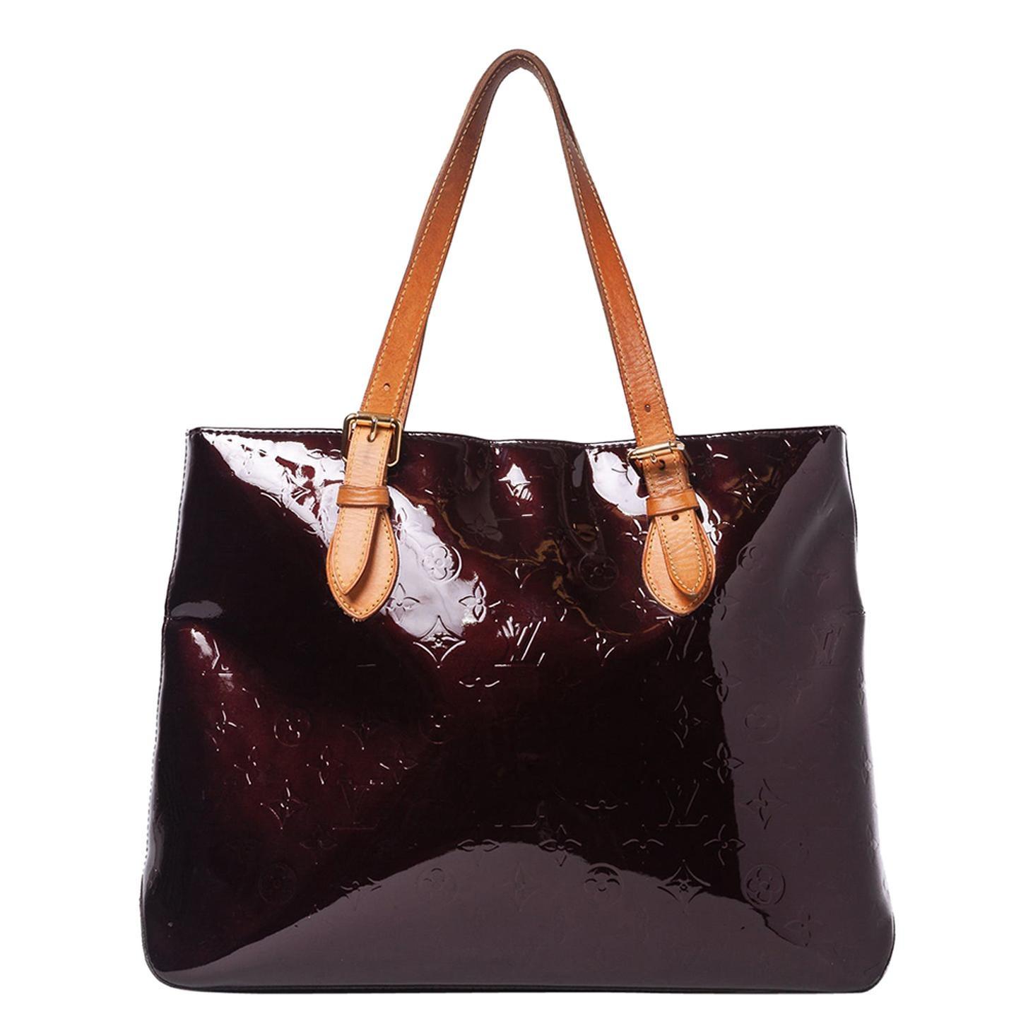Louis Vuitton Monograma Vernis Brentwood Tote Should Bag