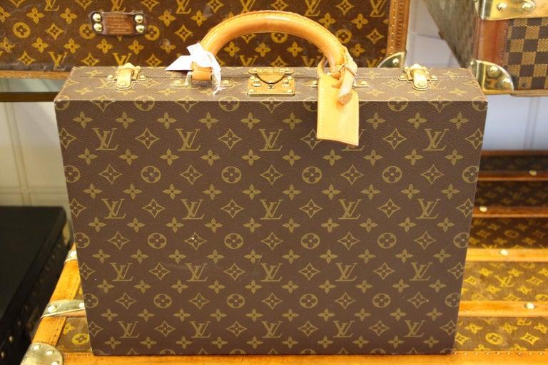 French Louis Vuitton Monogramm Briefcase, Louis Vuitton Attache Case For Sale