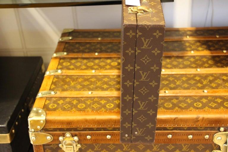 Brass Louis Vuitton Monogramm Briefcase, Louis Vuitton Attache Case For Sale