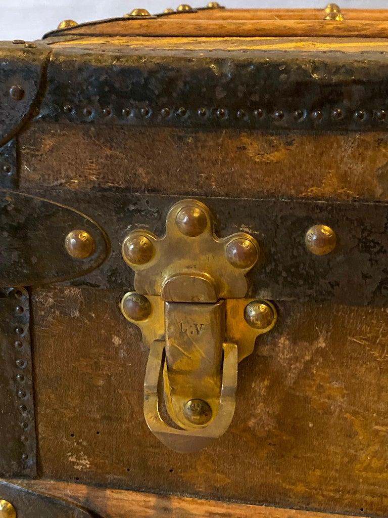 Louis Vuitton Monograph Steamer Trunk For Sale 4