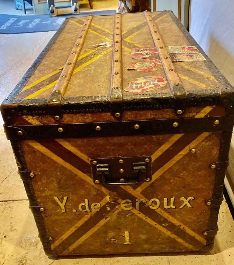 Louis Vuitton Monograph Steamer Trunk For Sale 5