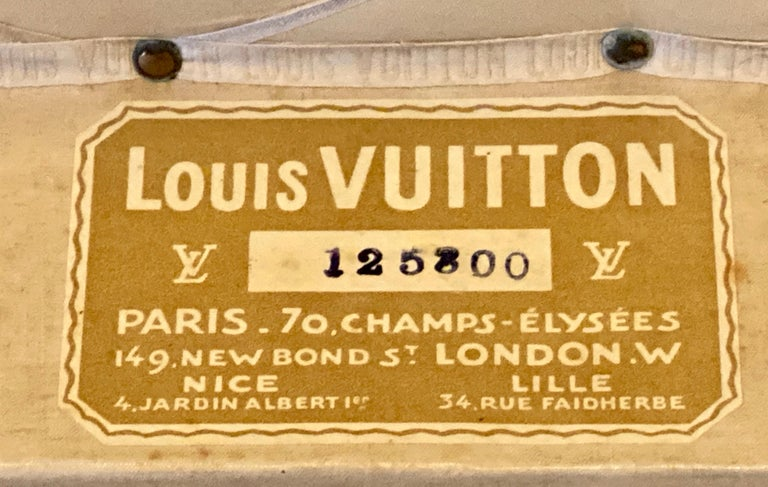 French Louis Vuitton Monograph Steamer Trunk For Sale