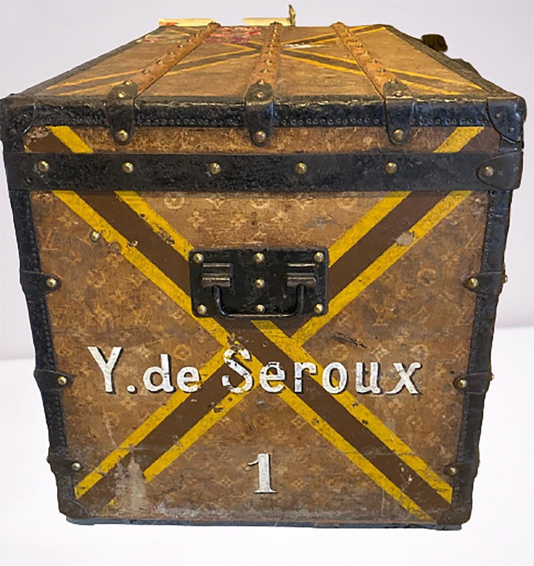 Neoclassical Louis Vuitton Monograph Steamer Trunk For Sale