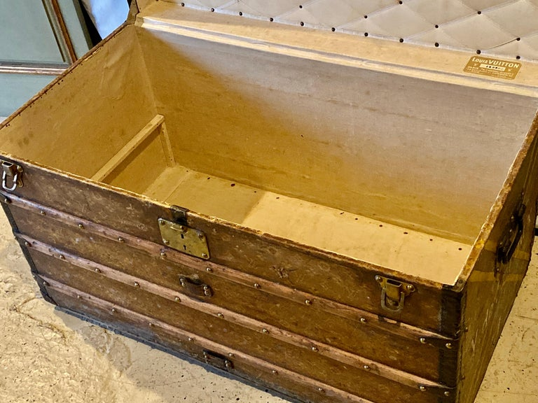 Louis Vuitton Monograph Steamer Trunk In Fair Condition For Sale In Stamford, CT