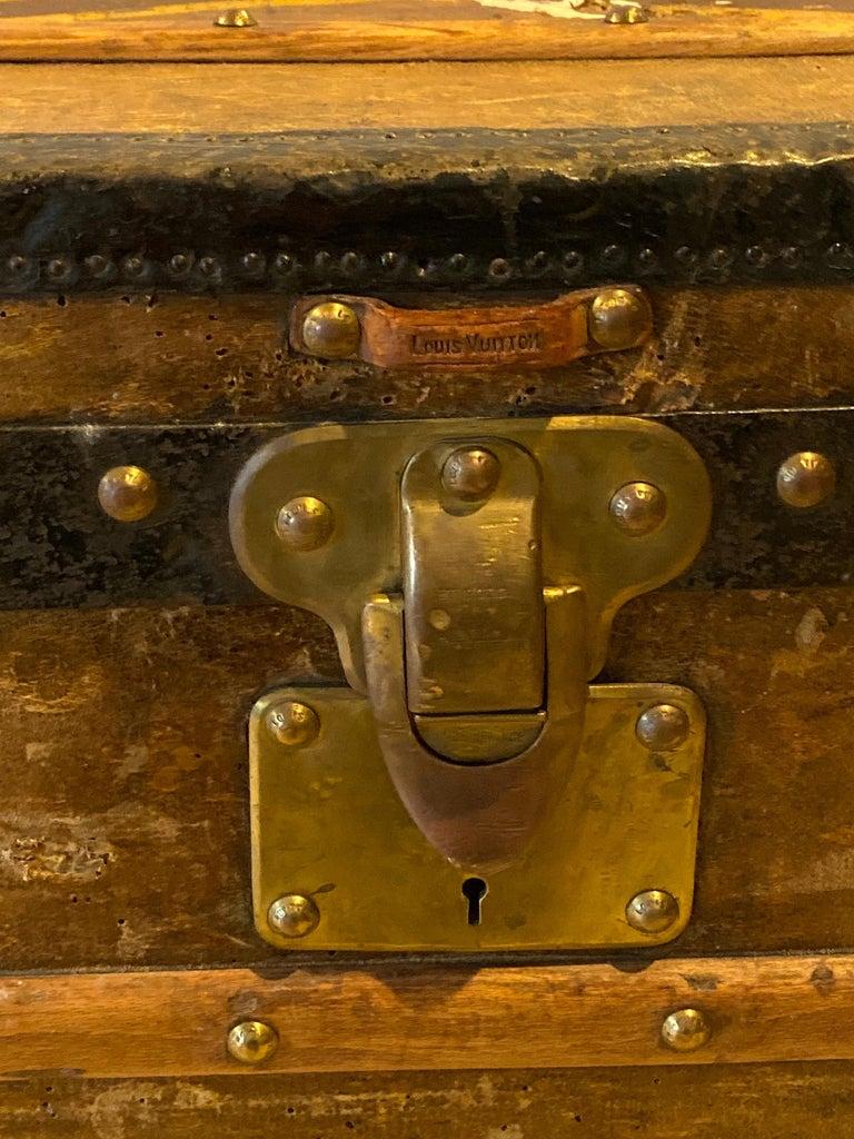 Louis Vuitton Monograph Steamer Trunk For Sale 3
