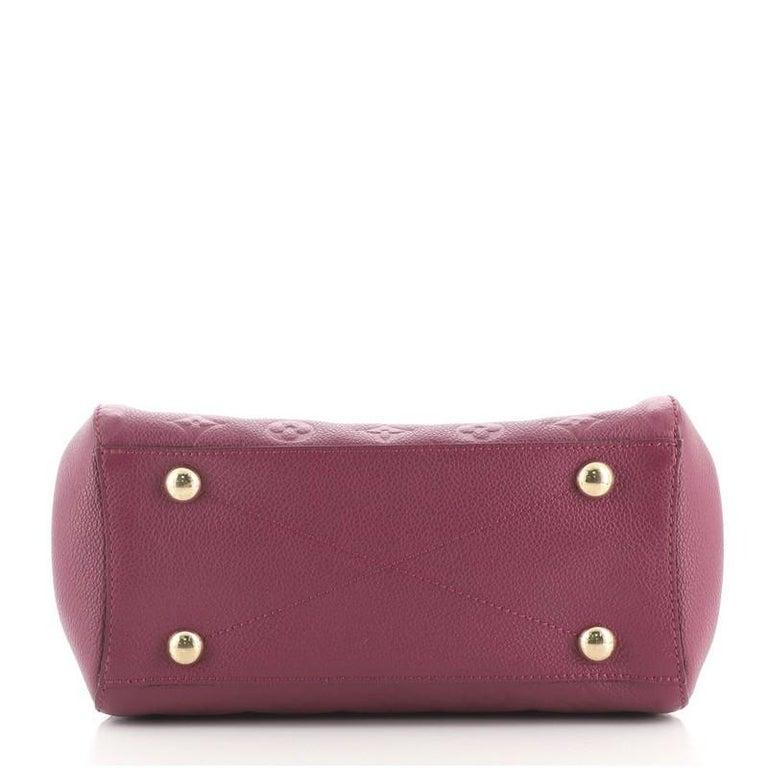 Louis Vuitton Montaigne Handbag Monogram Empreinte Leather BB In Good Condition For Sale In New York, NY