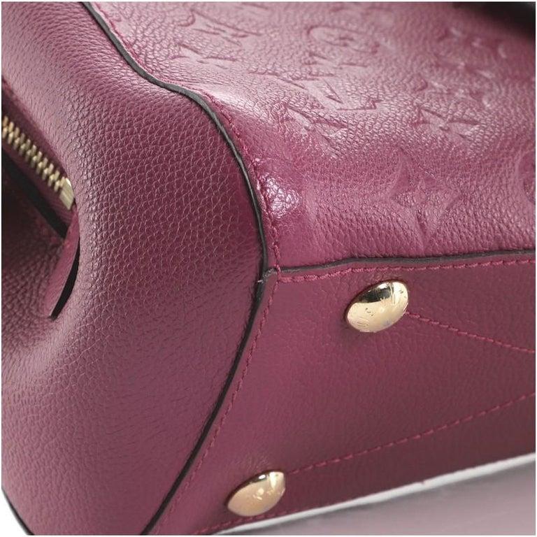 Louis Vuitton Montaigne Handbag Monogram Empreinte Leather BB For Sale 1