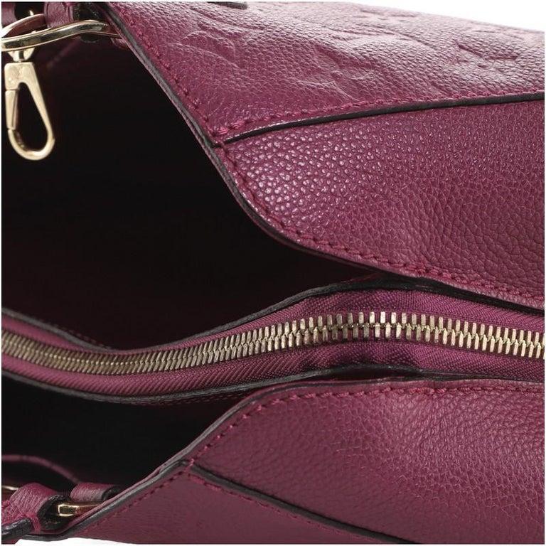 Louis Vuitton Montaigne Handbag Monogram Empreinte Leather BB For Sale 2