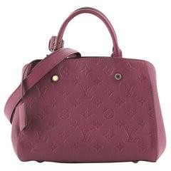 Louis Vuitton Montaigne Handbag Monogram Empreinte Leather BB