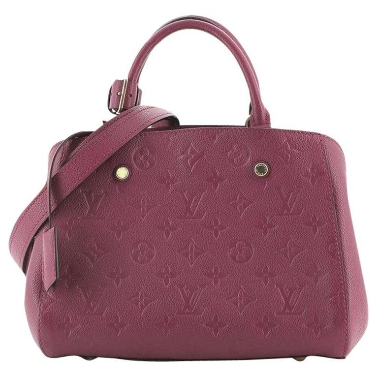 Louis Vuitton Montaigne Handbag Monogram Empreinte Leather BB For Sale