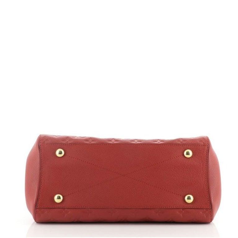 Louis Vuitton Montaigne Handbag Monogram Empreinte Leather MM In Good Condition For Sale In New York, NY