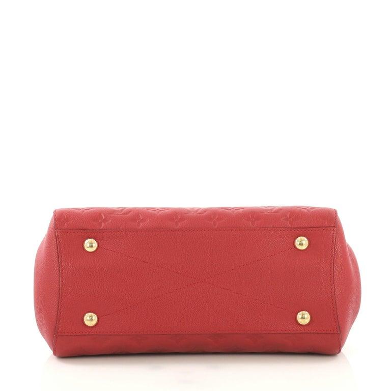 cf406ac839c8 Louis Vuitton Montaigne Handbag Monogram Empreinte Leather MM For Sale 1
