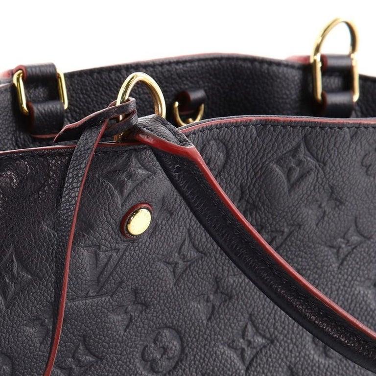 Louis Vuitton Montaigne Handbag Monogram Empreinte Leather MM For Sale 3