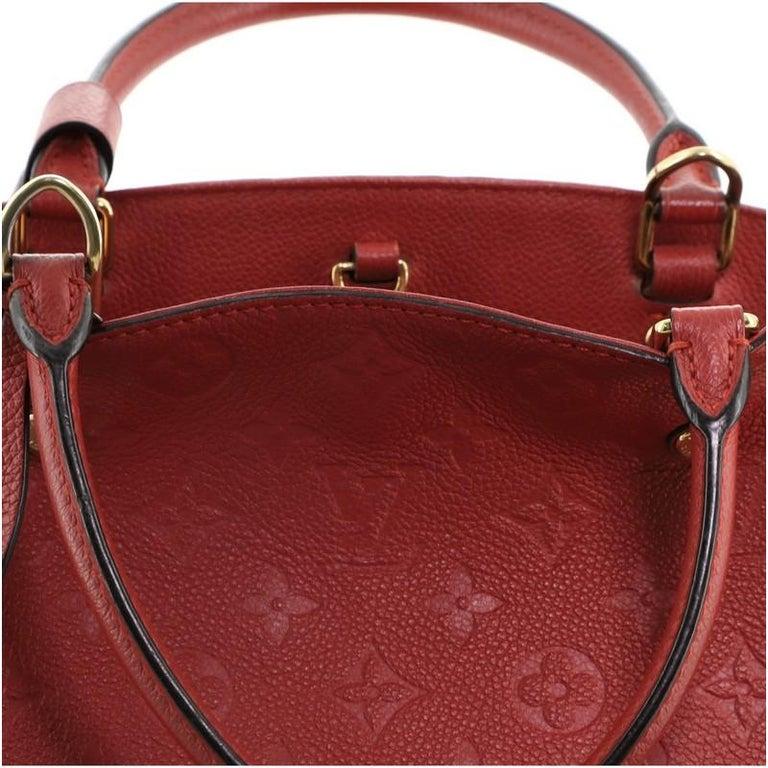 Louis Vuitton Montaigne Handbag Monogram Empreinte Leather MM For Sale 2