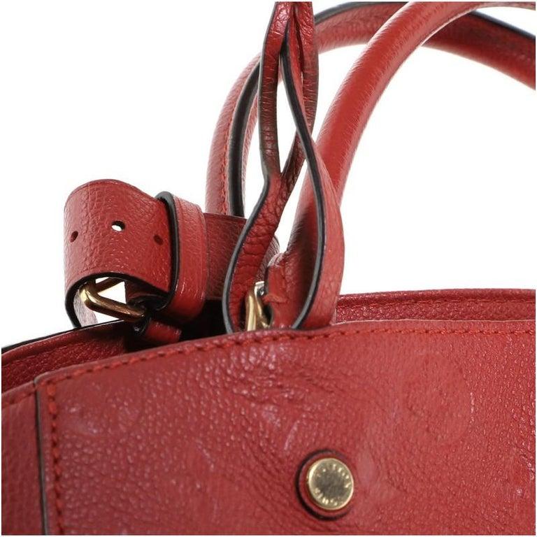 Louis Vuitton Montaigne Handbag Monogram Empreinte Leather MM For Sale 4