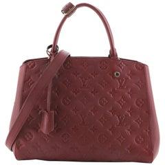 Louis Vuitton Montaigne Handbag Monogram Empreinte Leather MM