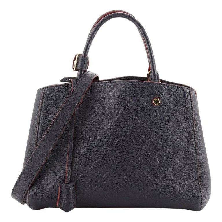 Louis Vuitton Montaigne Handbag Monogram Empreinte Leather MM For Sale
