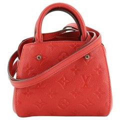 Louis Vuitton Montaigne Handbag Monogram Empreinte Leather Nano