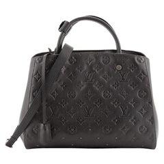 Louis Vuitton Montaigne Handbag Studded Monogram Empreinte Leather MM