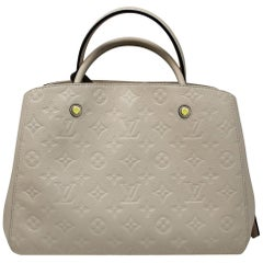 Louis Vuitton Montaigne Neige Empreinte Handbag With Dust Bag