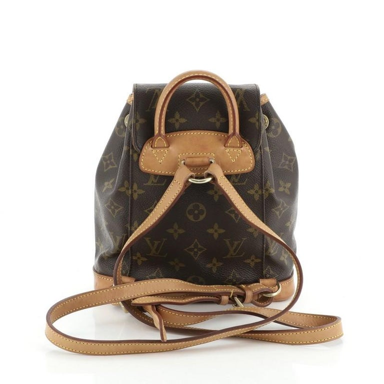 Louis Vuitton Montsouris Backpack Monogram Canvas PM In Fair Condition For Sale In New York, NY