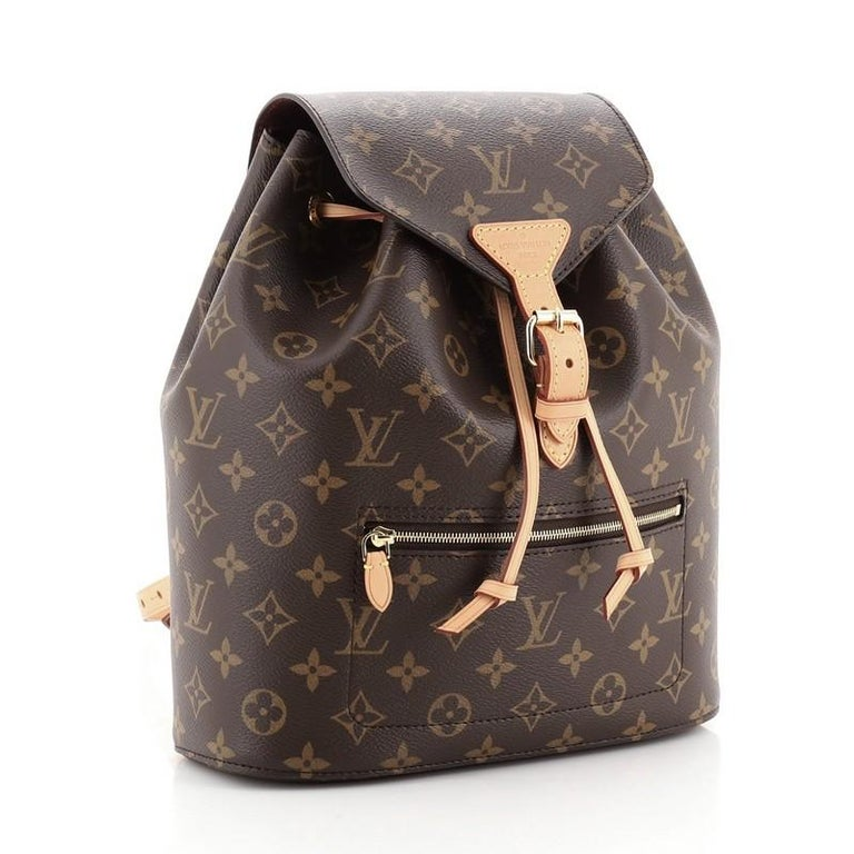 Louis Vuitton Montsouris Backpack NM Monogram Canvas In Good Condition For Sale In New York, NY