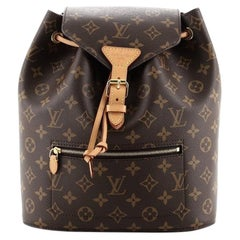 Louis Vuitton Montsouris Backpack NM Monogram Canvas with Leather PM