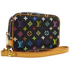 Louis Vuitton Multi Color Black Small Mini Evening Clutch Wristlet Pochette Bag
