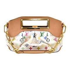 LOUIS VUITTON Multi color Judy white PM handbag with strap $4000 +