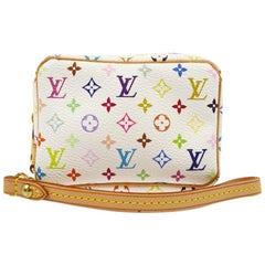 Louis Vuitton Multi Color White Small Mini Evening Clutch Wristlet Pochette Bag
