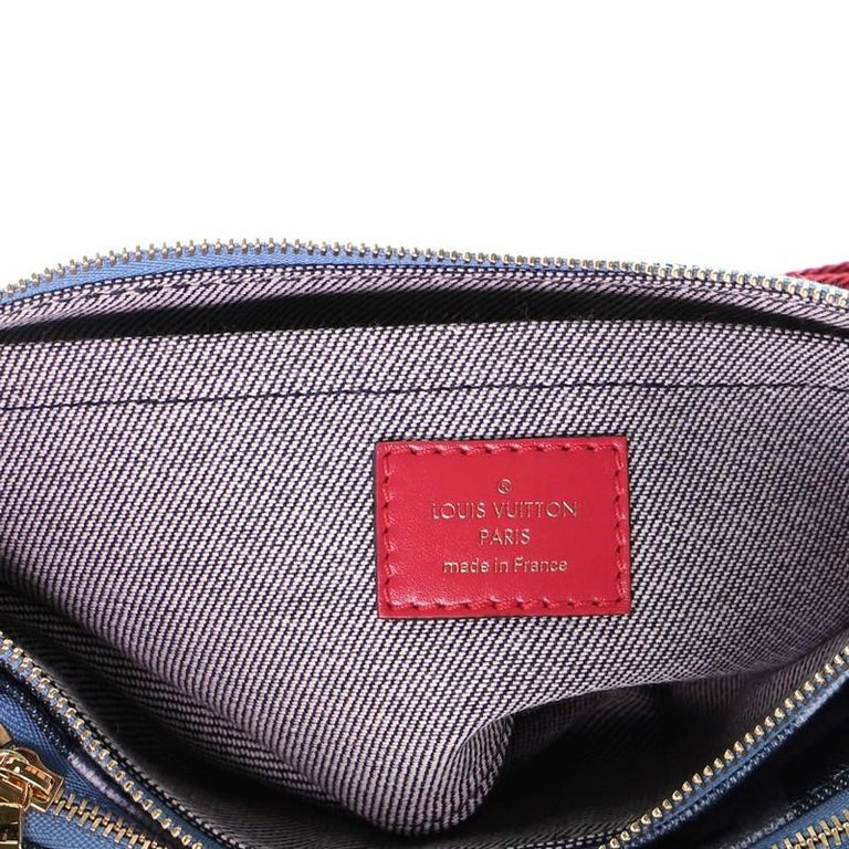 Louis Vuitton Multi Pochette Accessoires Damier and Monogram Patchwork Denier For Sale 3