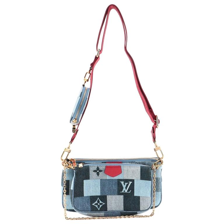 Louis Vuitton Multi Pochette Accessoires Damier and Monogram Patchwork Denier