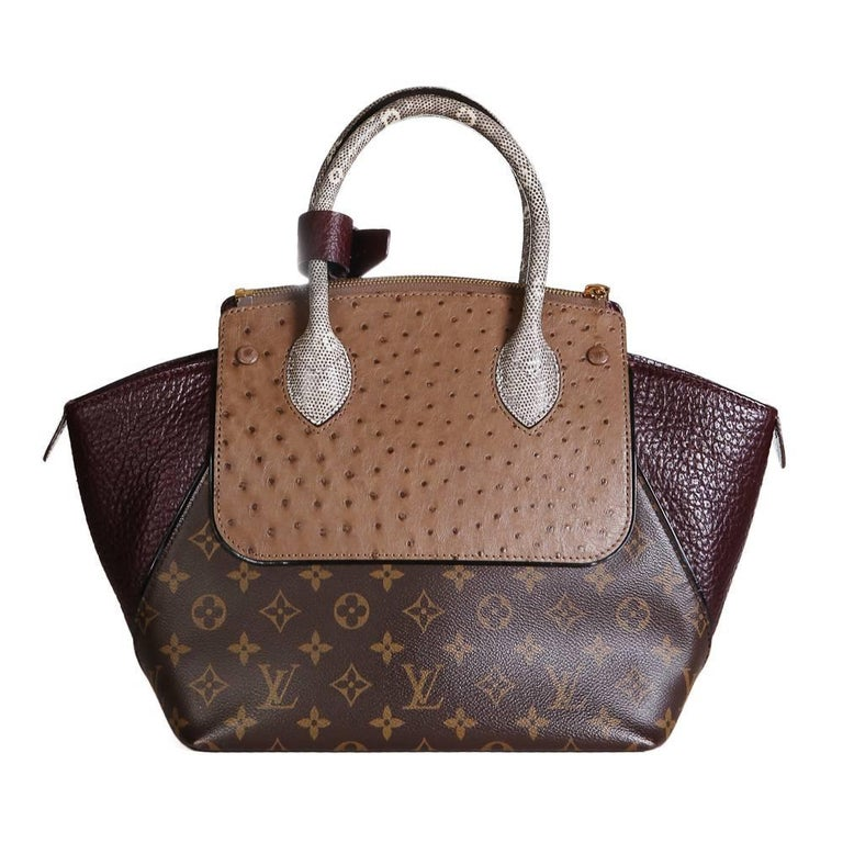 Gray Louis Vuitton Multi Skin Monogram Leather Tote, contemporary For Sale
