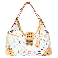 Louis Vuitton Multicolor Chrissie White Hobo bag with Gold Studded detail $4500