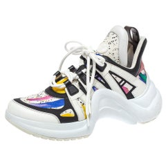 Louis Vuitton Multicolor Leather And Canvas Archlight Trainer Sneakers Size 39