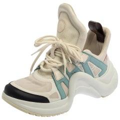 Louis Vuitton Multicolor Leather Canvas Archlight Lace Up Sneakers Size 38