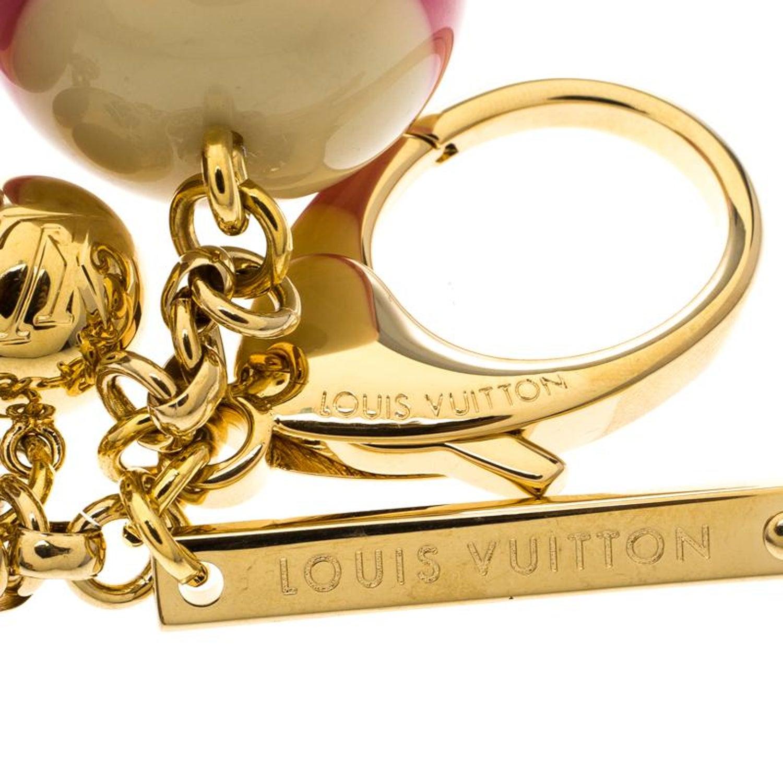 ea16acb8e55a Louis Vuitton Multicolor Mini Lin Croisette Key Holder   Bag Charm For Sale  at 1stdibs