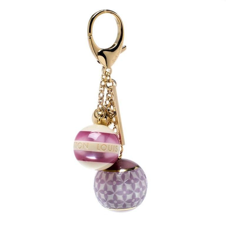 49b995725587 Louis Vuitton Multicolor Mini Lin Croisette Key Holder   Bag Charm For Sale