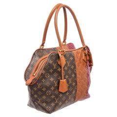 Louis Vuitton Multicolor Monogram Canvas Leather Blocks Stripes Tote Bag