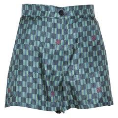 Louis Vuitton Multicolor Printed Silk Shorts M