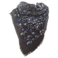 Louis Vuitton multicoloured white blue and black shawl