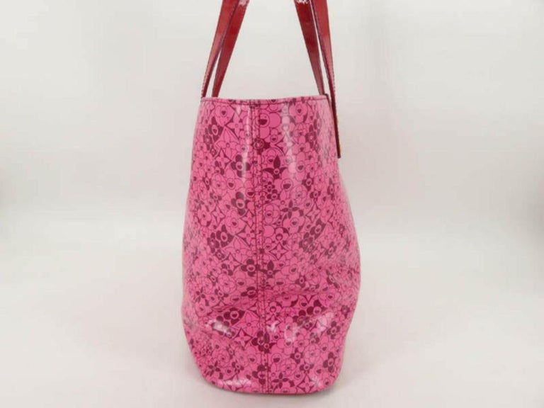 10b6c07a4415c Louis Vuitton Murakami Cosmic Blossom Pm 870012 Pink Leather Tote For Sale 6