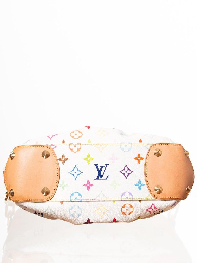 Beige Louis Vuitton Murakami White Multicolor Monogram Judy PM Bag For Sale